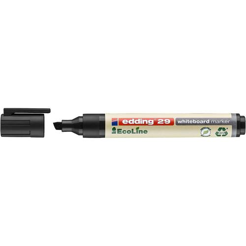 edding 29 EcoLine Whiteboard Marker Chisel Tip 1-5mm Line Black (Pack 10)