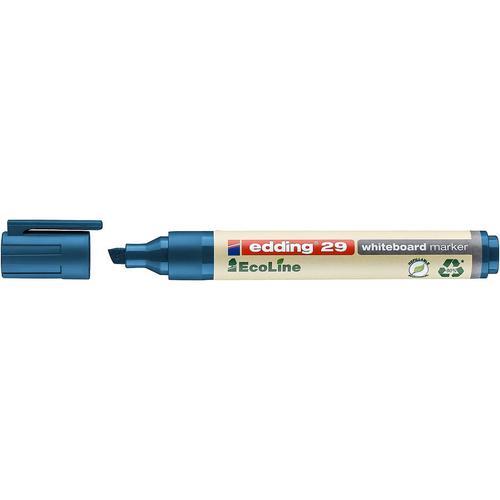 edding 29 EcoLine Whiteboard Chisel Tip Marker Blue PK10