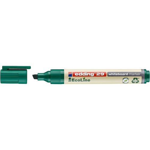 edding 29 EcoLine Whiteboard Marker Chisel Tip 1-5mm Line Green (Pack 10)