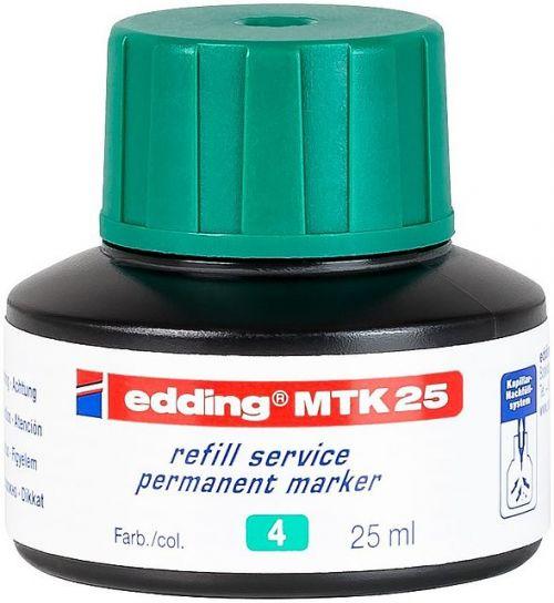 edding MTK 25 Bottled Refill Ink for Permanent Markers 25ml Green