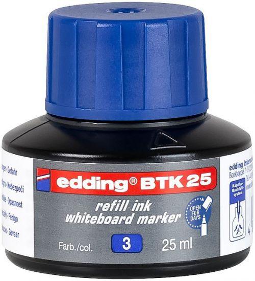 edding BTK 25 Bottled Refill Ink for Whiteboard Markers 25ml Blue