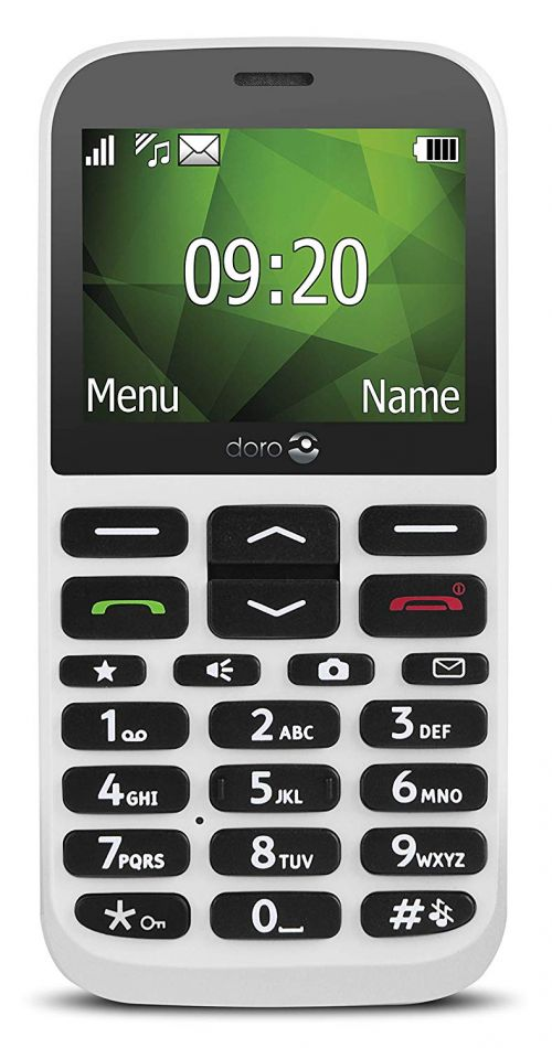 Doro 1370 2G Easy to Use White Phone