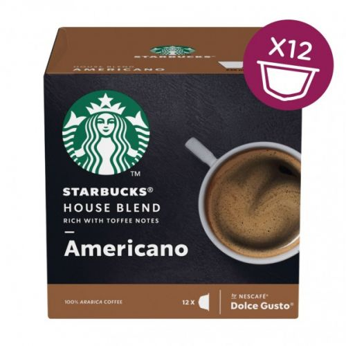 STARBUCKS by Nescafe Dolce Gusto Americano House Blend Coffee 12 Capsules (Pack 3)