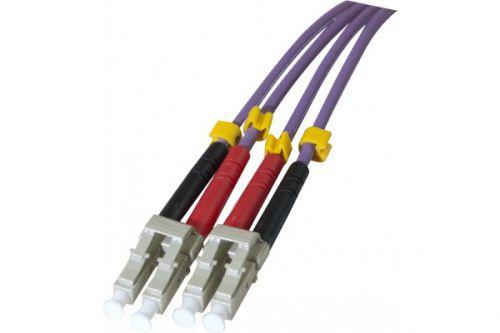 EXC 1m Fibre Duplex OM3 50 125 LCLC Purple