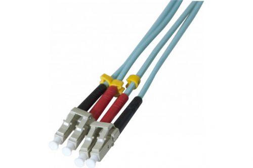 EXC 1m Fibre Duplex OM3 50 125 LCLC Aqua