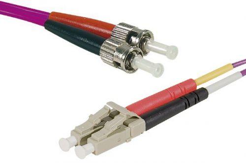 EXC 15m Fibre Duplex OM3 50 125 LCST Purple