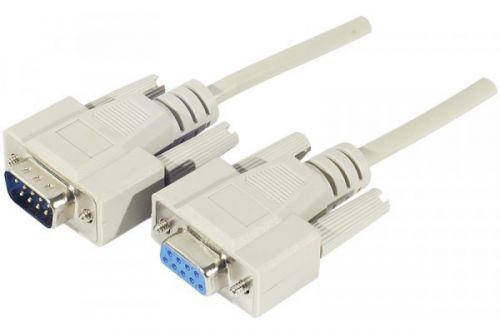 EXC 1.8m DB9 to DB9 Serial Cable White MF
