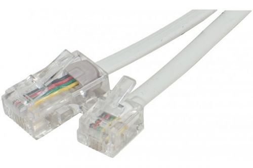 EXC 2m Telephone Cable RJ11 to RJ45 White