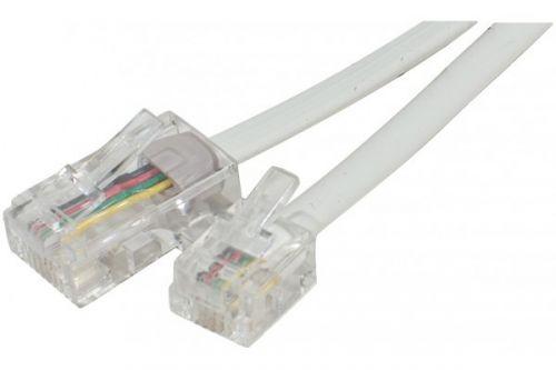 EXC 5m Telephone Cable RJ11 to RJ45 White