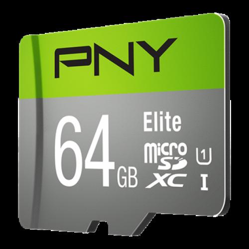 PNY 64GB Elite CL10 UHS1 MicroSDXC and AD