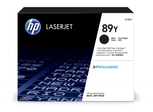 HP 89Y Black Extra High Yield Toner 20K pages for HP LaserJet Enterprise M507 series and HP LaserJet Enterprise MFP M528 series - CF289Y