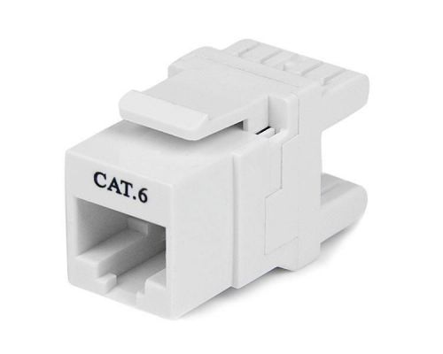 Startech 180 Degree Cat 6 Keystone Jack RJ45