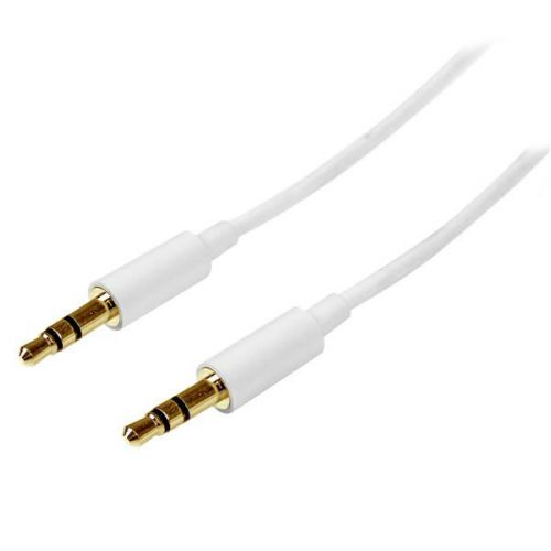 Startech 2m White Slim 3.5mm Audio Cable MM