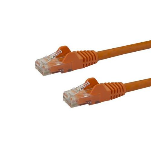 Startech 15m Orange Snagless Cat6 UTP Patch Cable