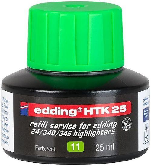 edding HTK 25 Bottled Refill Ink for Highlighter Pens 25ml Green
