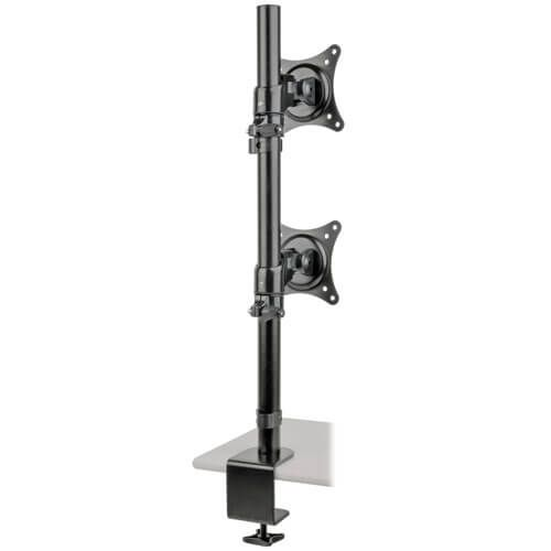 15in to 27in Dual Mount Monitor Stand Laptop / Monitor Risers 8TRDDR1527SDC
