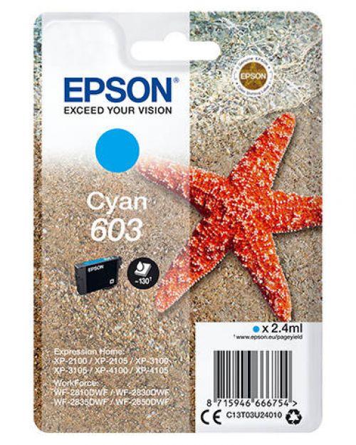 Epson C13T03U24010 603 Cyan Ink 2.4ml
