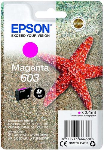 Epson Starfish 603XL Magenta Singlepack Ink