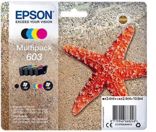 Epson C13T03U64010 603 CMYK Ink 3.4ml 3x 2.4ml Multipack