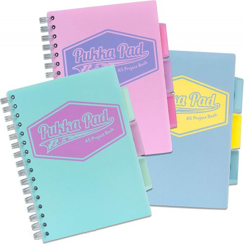 Pukka A5 Pastel Project Book Blue/Pink/Mint PK3