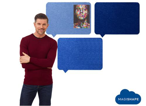 MagiShape Speech bubble board 100x80cm Mid Blue