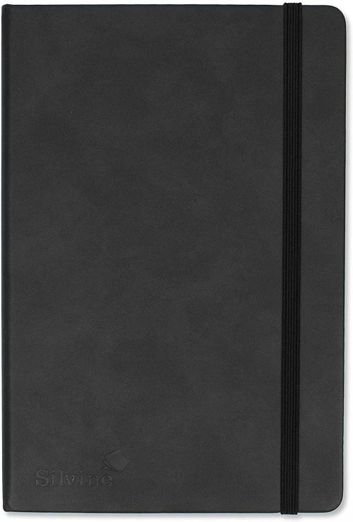 Silvine Executive Softfeel Notebook A5 Quad Ruled