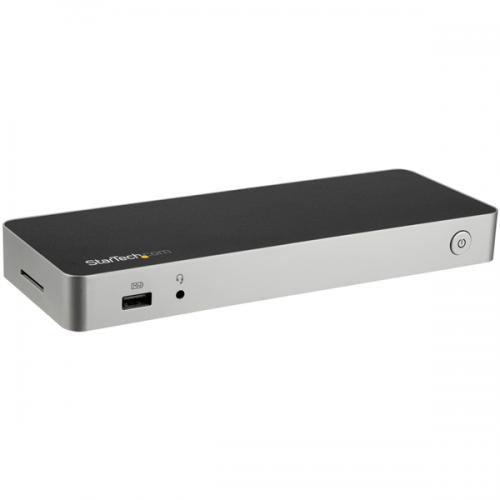 Dual Monitor 4K USB C Dock 60W PD SD