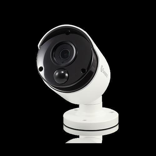 4K True Detect White Bullet Camera