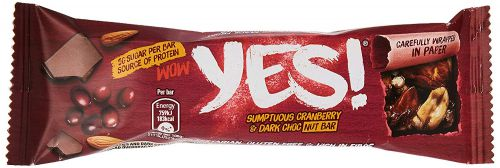 Yes Cranberry and Dark Chocolate Bar 24x35g (Paper)