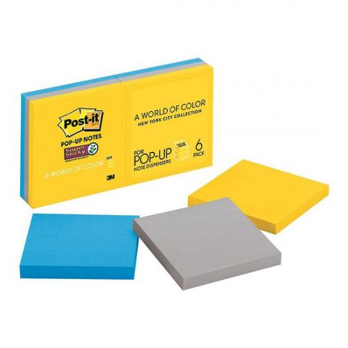 Post-it Super Sticky Z-Notes 76x76mm New York R330-6SS-NY [Pack 6]