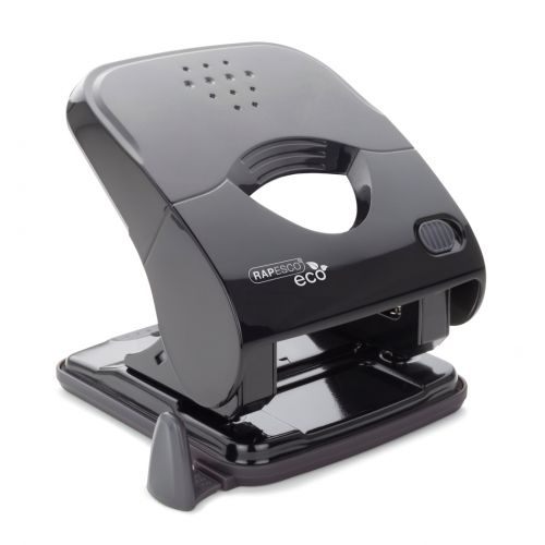 Rapesco ECO X5-40ps Less Effort 2 Hole Punch black