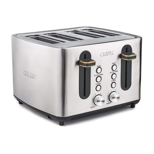 Crux 4 Slice Stainless Steel Toaster