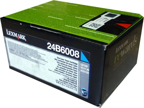 OEM Lexmark 24B6008 Cyan 3000 Pages Original Toner