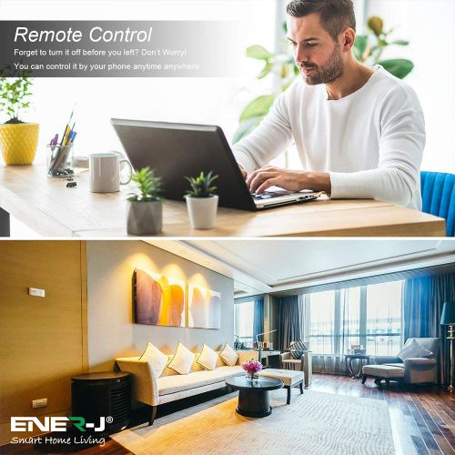 Ener-J WiFi Smart LED Candle E14 Bulb With 8 Scene Modes And Smart Voice Control Ref SHA5287