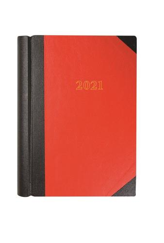 Collins 42 A4 2 Pages per Day 2021 Diary Red