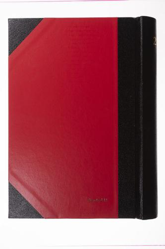 Collins 2021 Desk Diary 2 Pages to a Day Sewn Binding A4 297x210mm Red Ref 42 Red 2021