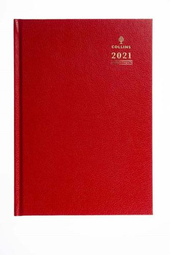 Collins 44 A4 Day to Page 2021 Diary Red