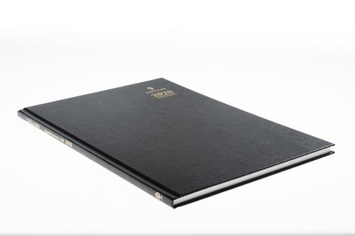 Collins 2021 Desk Diary Week to View Sewn Binding A4 297x210mm Black Ref A40 2021