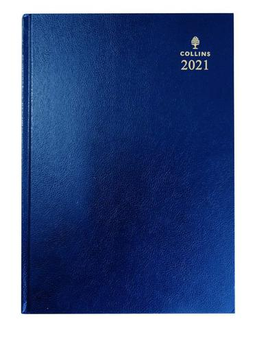 Collins 52 A5 Day to Page 2021 Diary Blue