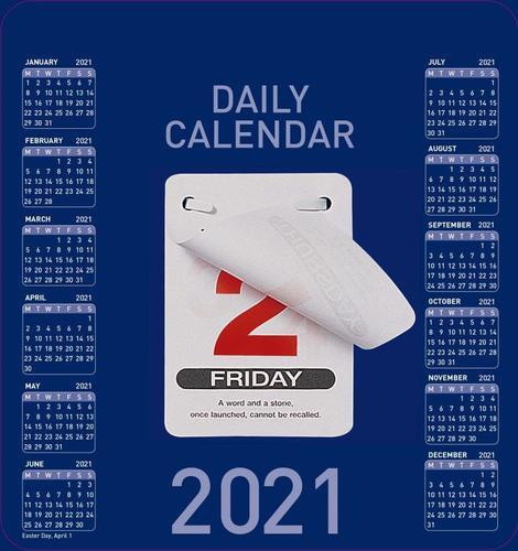 Collins Colplan CDBC 2021 Daily Block Calendar