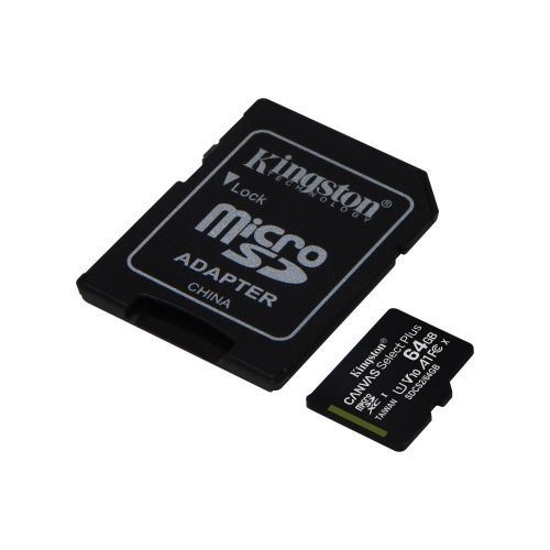 64GB CS Plus C10 MicroSDHC and Adapter