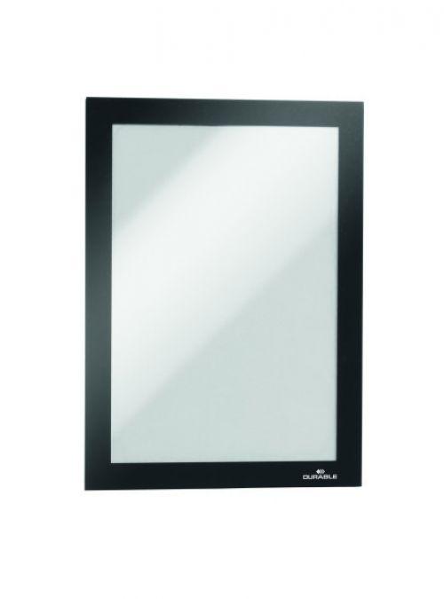 Durable Duraframe Self-Adhesive Frame A5 Black 489801 Sign Holders DB06824