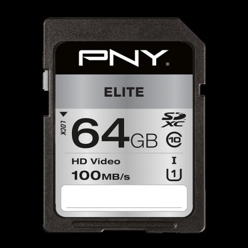 PNY 64GB High Elite CL10 UHS1 SDXC