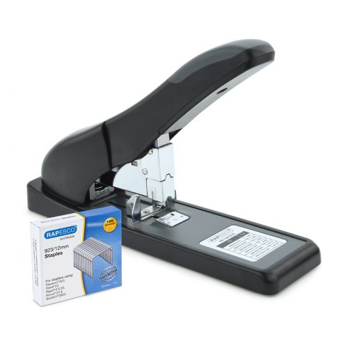 Rapesco ECO HD-140 Heavy Duty Stapler Bk With Staples Pk1000
