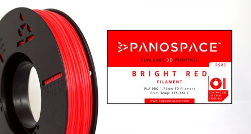 Panospace Filament PLA 1.75mm 326g Red PS-PLA175PRED0326 by Panospace, PAN00703