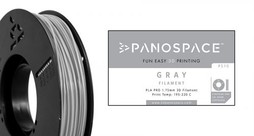 Panospace Filament PLA 1.75mm 326g Grey PS-PLA175GRY0326 by Panospace, PAN00710