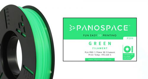 Panospace Filament PLA 1.75mm 326g Green PS-PLA175GRN0326 by Panospace, PAN00704