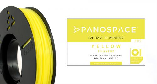 Panospace Filament PLA 1.75mm 326g Yellow PS-PLA175YLW0326 by Panospace, PAN00707