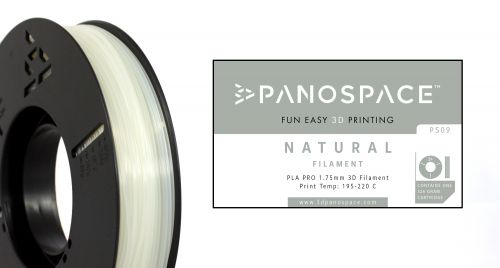 Panospace Filament PLA 1.75mm 326g Natural PS-PLA175NAT0326 by Panospace, PAN00709