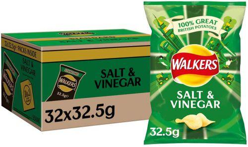 Walkers Salt & Vinegar Pk32 Food & Confectionery JA3725